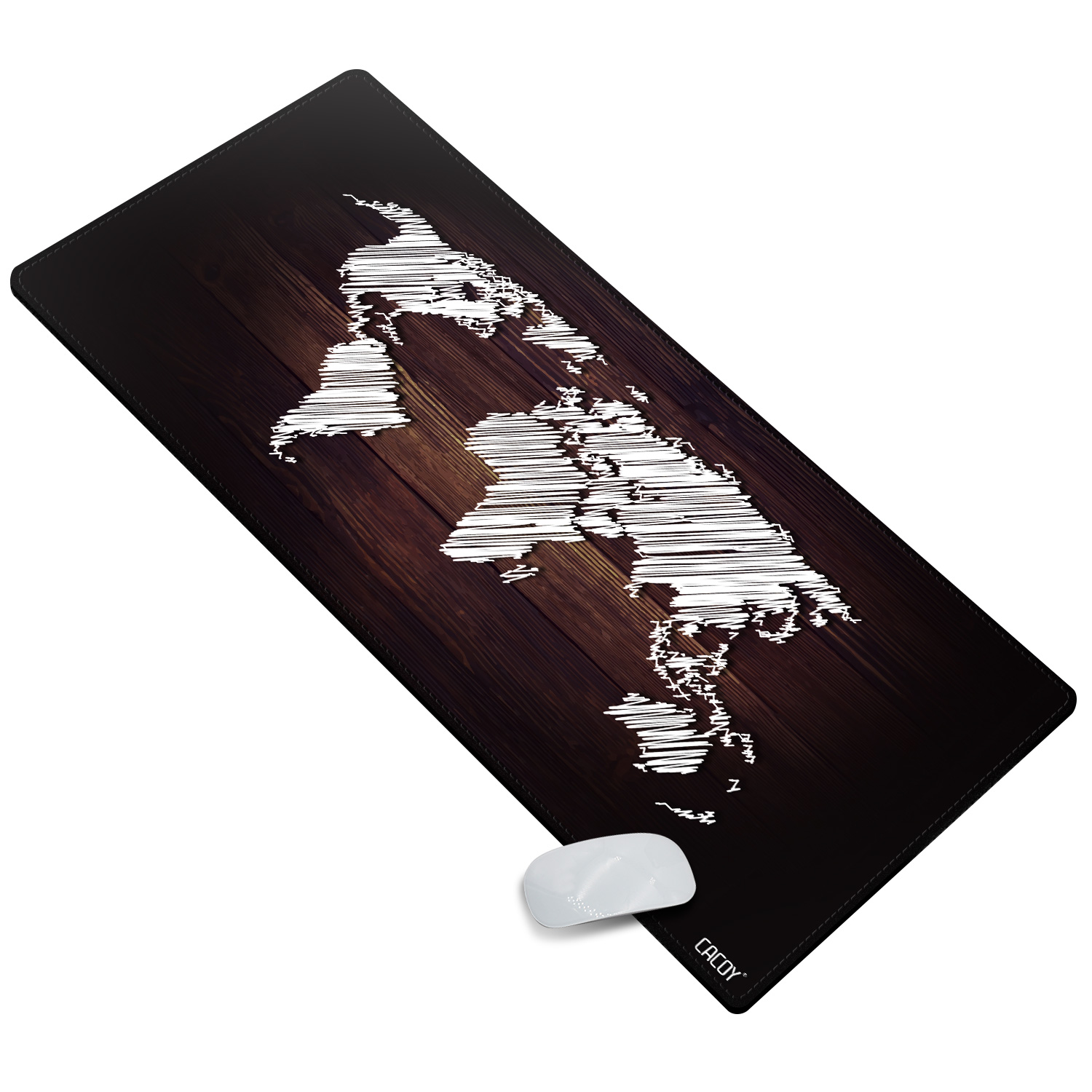 100x50cm World Map Extended Gaming Mouse Pad