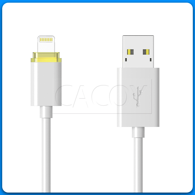 PVC MFi round lightning cable with LED indicator